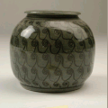 Painted jar. Aberystwyth University Ceramic Collection and Archive