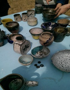 Raku firing at Morley College
