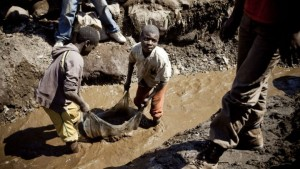 Children cleaning heterogenite ore, Democratic Republic of Congo